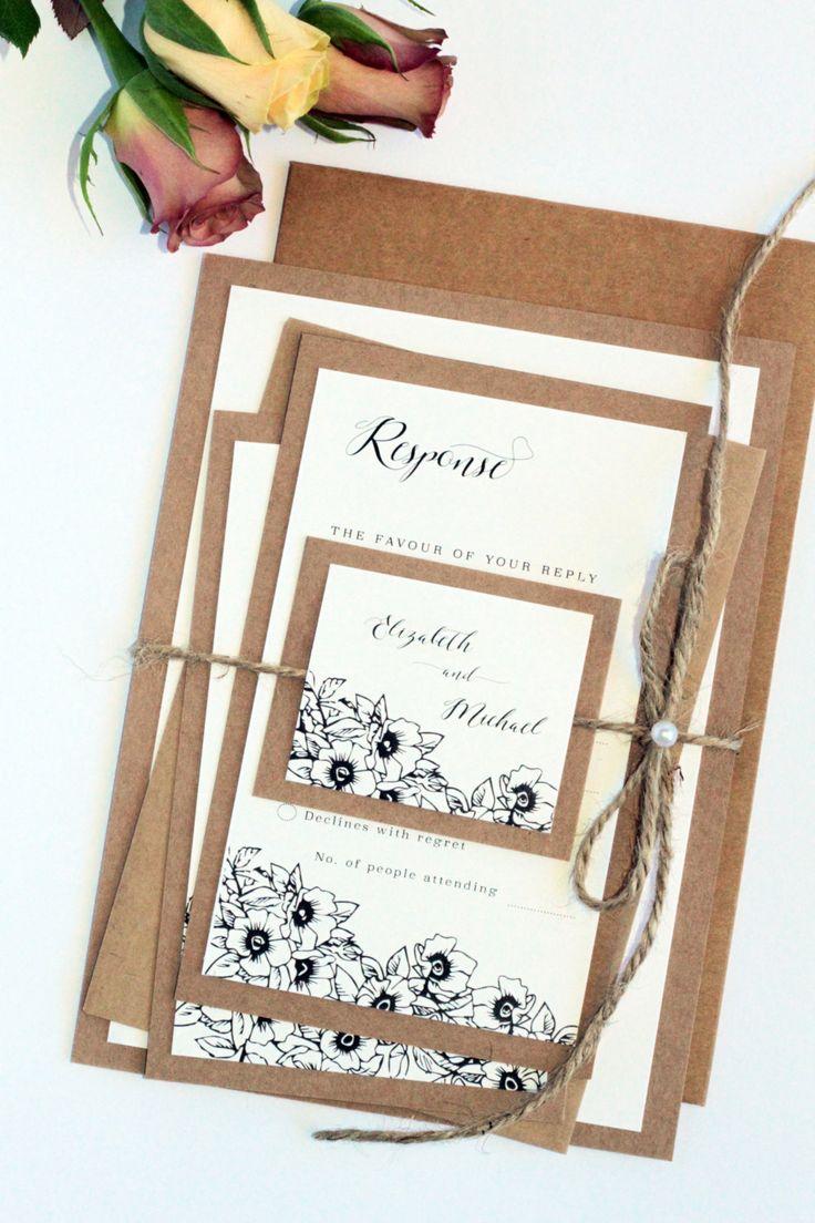 40 best Rustic Invitations images on Pinterest   Rustic invitations ...