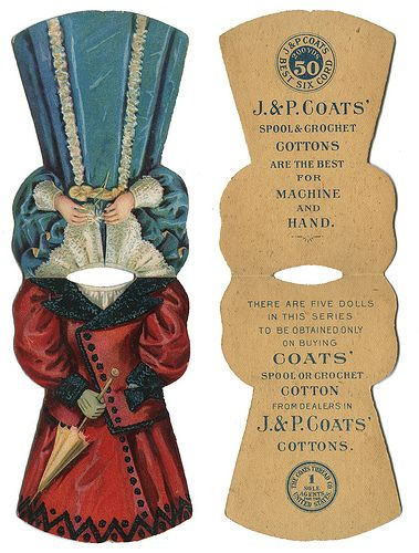 J & P Coats thread cards. Copy, paste, cut, fold, and an almost antique for your stash of fun to behold finds!