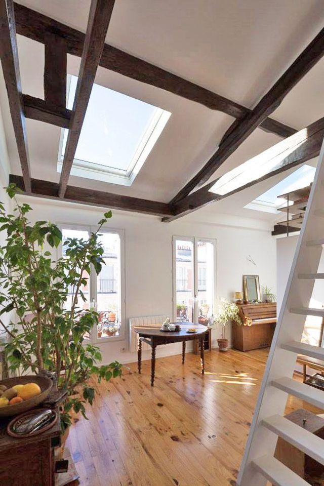 Appartement Paris 20 : 40 m2 avec combles aménagés - Côté Maison