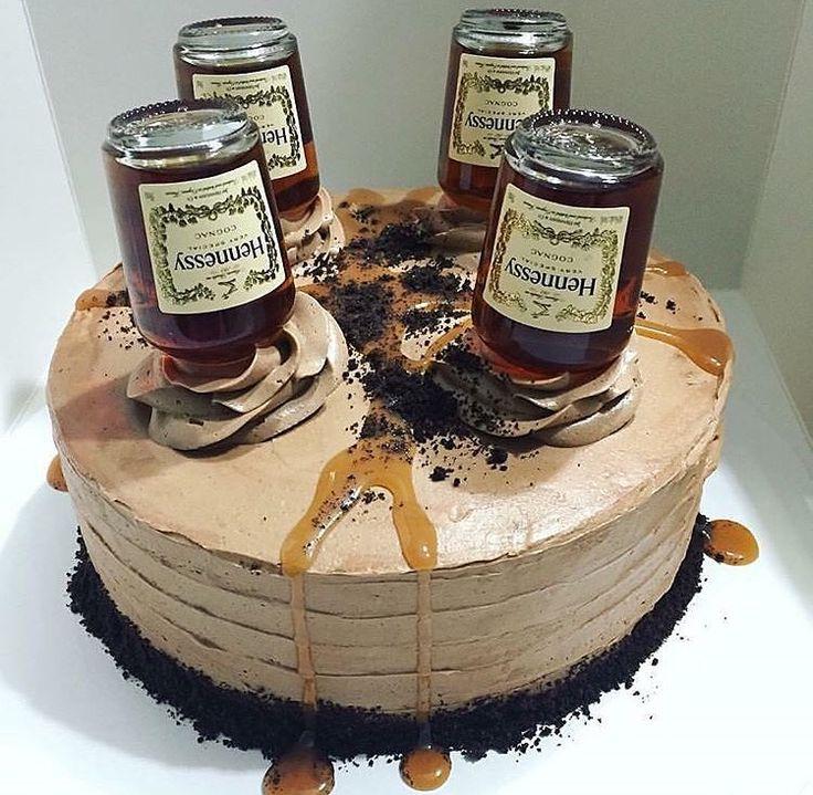 Hennessy Cake, Oreo crumb bottom! Chocolate