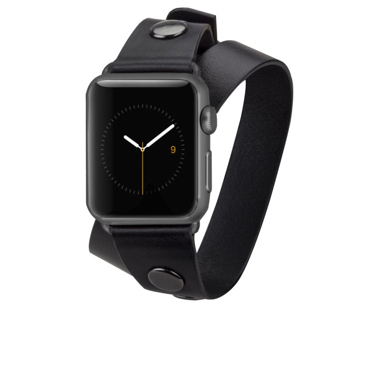 Black Double Studded Wrap Band by Rebecca Minkoff for Apple Watch 38mm | Case-Mate – Case-Mate.com