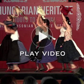 "For the 2013 Smithsonian Folklife Festival, Hungarian choreographers Dezső Fitos and Enikő Kocsis created the ""Hungarian Village"" program, which presented the diverse customs, songs, music, and dances of Hungarian rural society from the 1900s.   Videography by Sara Legg, Kylie"