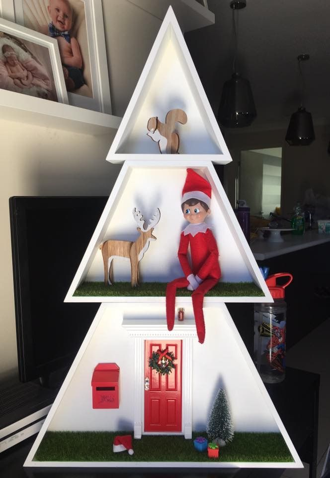 Kmart hack - elf on shelf &a door accessories from - www.mymagicalmoments.com.au