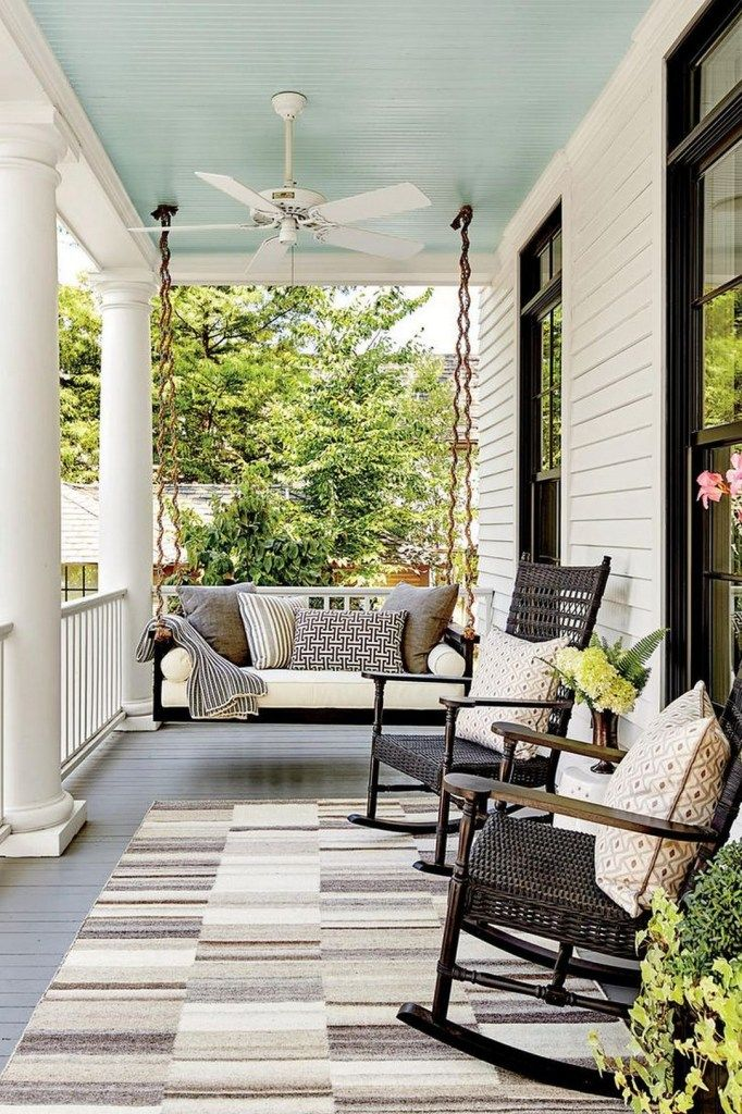 36 Simply Decorating Farmhouse Front Porch Ideas House With Porch Modern Farmhouse Porch Front Porch Seating