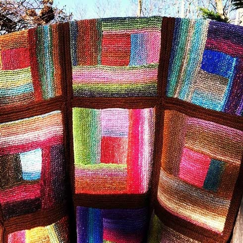 47 Best images about log cabin knitting on Pinterest Modern log cabins, Gar...