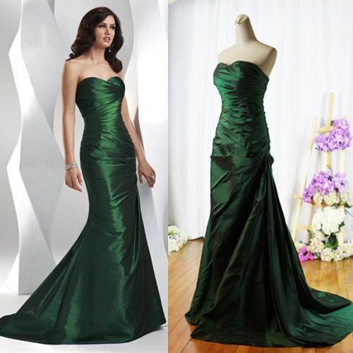 Выпускное зеленое платье