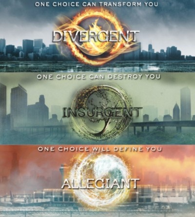The Divergent trilogy.  Yeaaah!!  :)