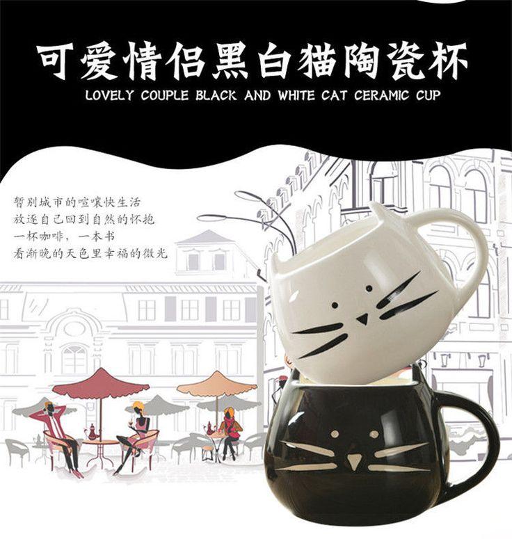 Cute Cat Mug 12 Oz for Coffee Tea - Cat Coffee Ceramic Mug-Crazy Cat Lady