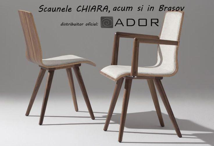 "Frumoasele si elegantele scaune ""Chiara"" sunt disponibile acum si in Brasov, prin ADOR Mobila! Si pentru ca ele sunt mai frumoase in realitate decat in poza, te invitam sa vii le vezi!"