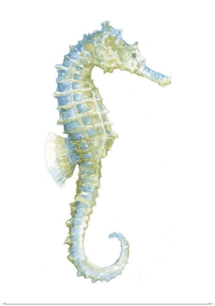 Watercolor Seahorse I Seahorse Painting Seahorse Art Wall Art