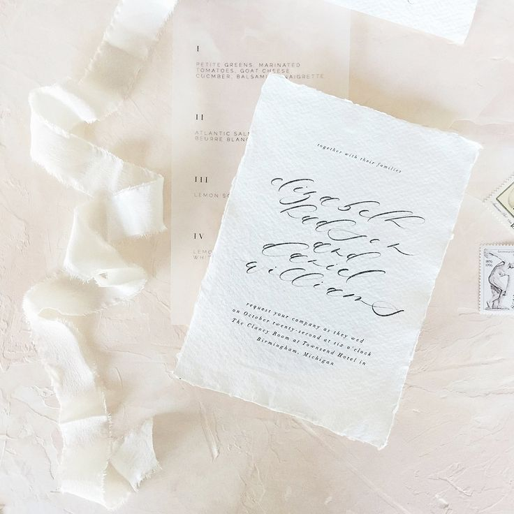 avery address labels wedding invitations%0A Bespoke wedding invitations on deckled edge Paper by Locust House Fine  Stationery