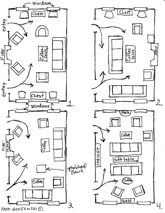 Twelve Furniture Arrangements For A Long, Narrow Room. Via Fred Gonsowski  Garden Home.