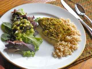 HEALTHY RECIPES: Sugar-Free, Gluten-Free: Sesame-Pistachio Crusted Scrod- maybe I can use walnuts instead because that is what I have