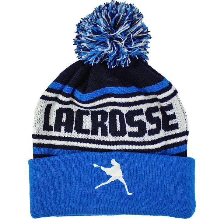 #LacrosseUnlimited Lacrosse Knit Hat- Blue