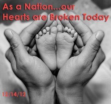 As a Nation...our  Hearts are Broken Today  12/14/12  #newtown #prayfornewtown