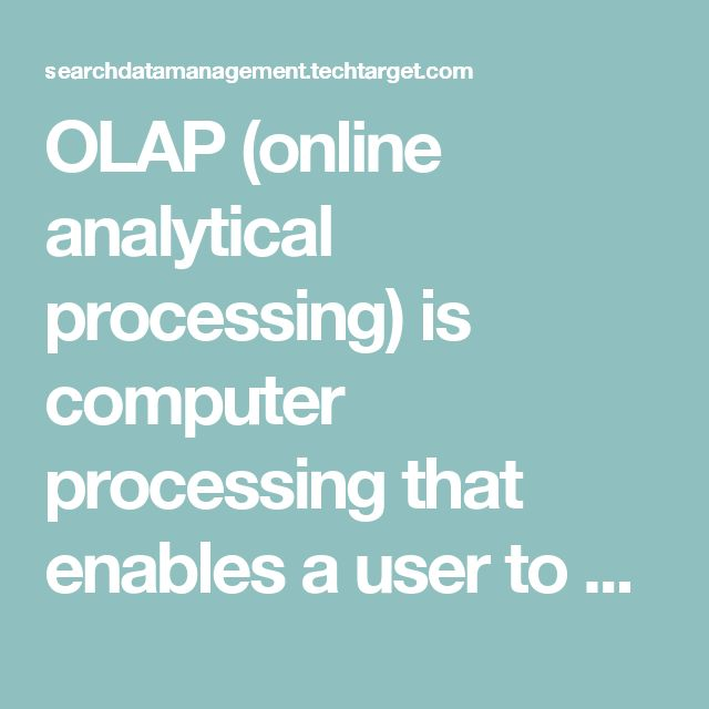 OLAP (online analytical processing) is computer processing that enables a user to easily and selectively extract and view data from different points of view. For example, a user can request that data be analyzed to display a spreadsheet showing all of a company's beach ball products sold in Florida in the month of July, compare revenue figures with those for the same products in September, and then see a comparison of other product sales in Florida in the same time period. To facilitate…