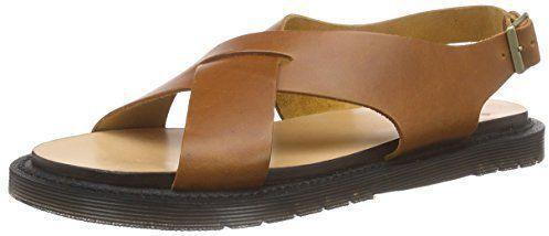 """Pin for Later: 20 flache Sandalen, die euch Flip Flops ganz schnell vergessen lassen  Dr. Martens """"Abella"""" Knöchelriemchen Sandalen in Farbe Camel (112 €)"""