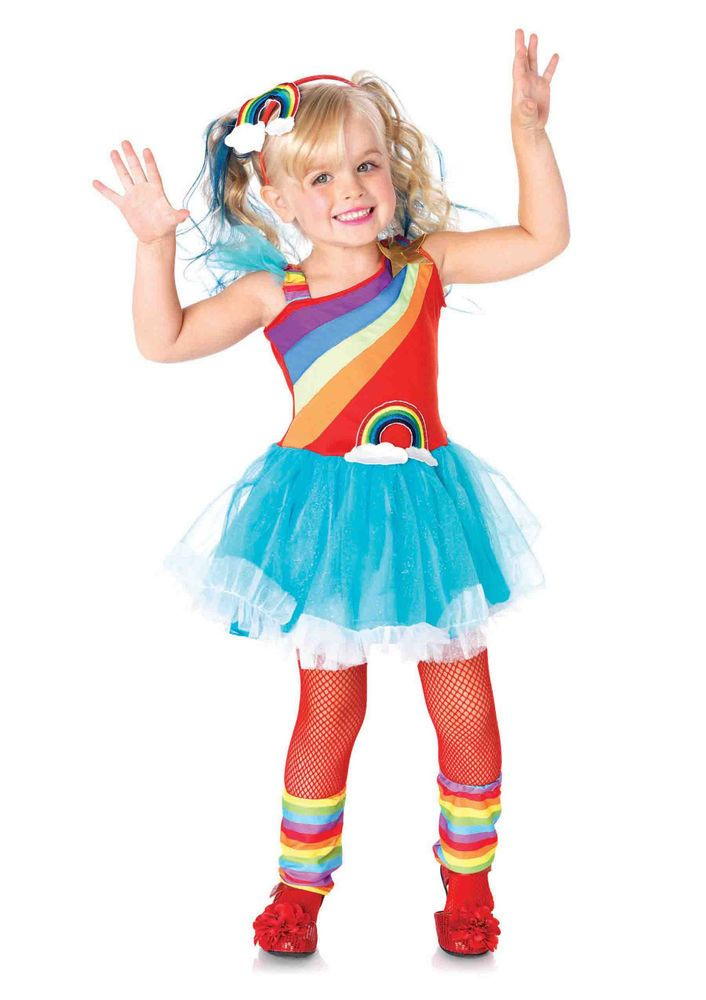 new leg avenue c21031 rainbow doll kids halloween costume legavenue