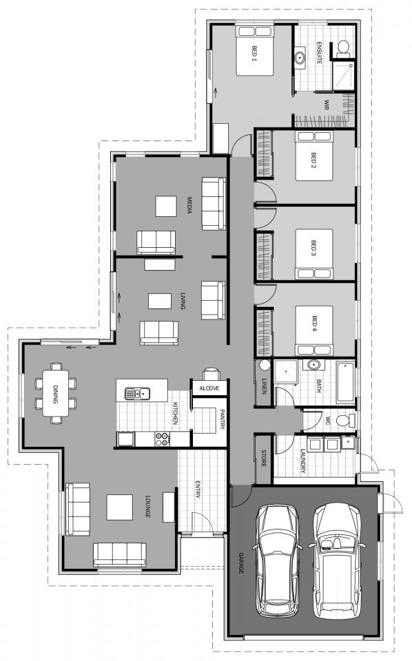 Valla Floorplan 250m2 Floor Plans Home Design Floor Plans House Plans