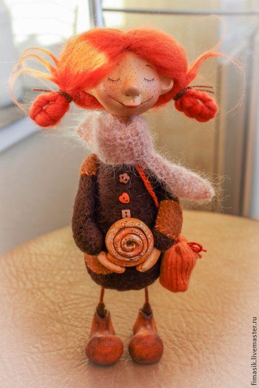 Купить Булочка с корицей - феечка, подарок на любой случай, девочка, оранжевое настроение, Рыжая