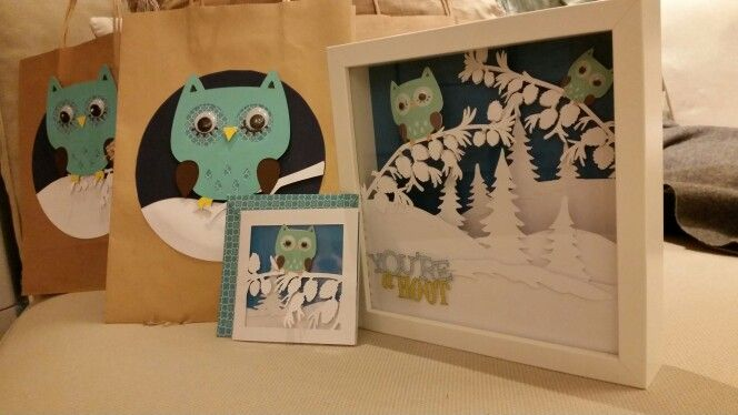 Shadow Box, card and bag to match