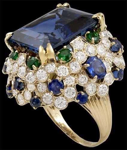 Van Cleef & Arpels Zaffiro, Smeraldo e diamanti - Gioielli Yafa
