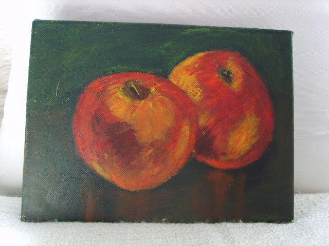 Mijn eerste kunstwerk....appeltjes