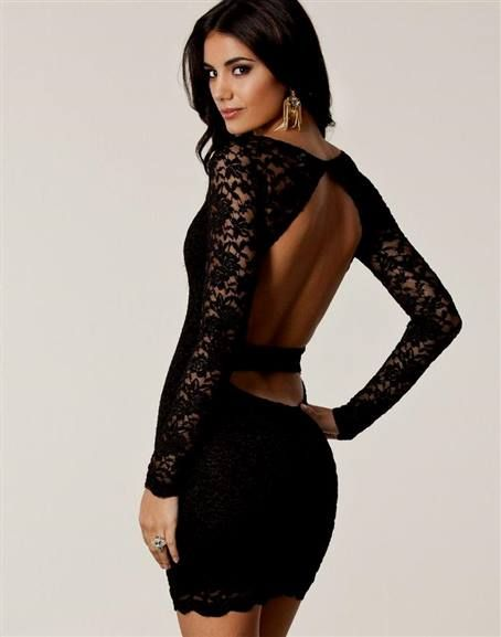 Cool black lace cocktail dress open back 2018-2019 Check more at http://bestclotheshop.com/dresses-review/black-lace-cocktail-dress-open-back-2018-2019/