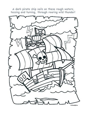 Pirate Ship Coloring Page | Printables | Spoonful