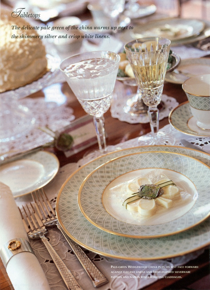 Waterford China Fitzpatrick Green Waterford Crystal Maeve Waterford Flatware Kells · Table MannersPlace SettingsTable ... & 654 best China Crystal Silver images on Pinterest | Place settings ...