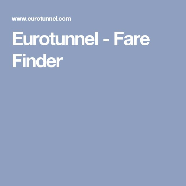Eurotunnel - Fare Finder