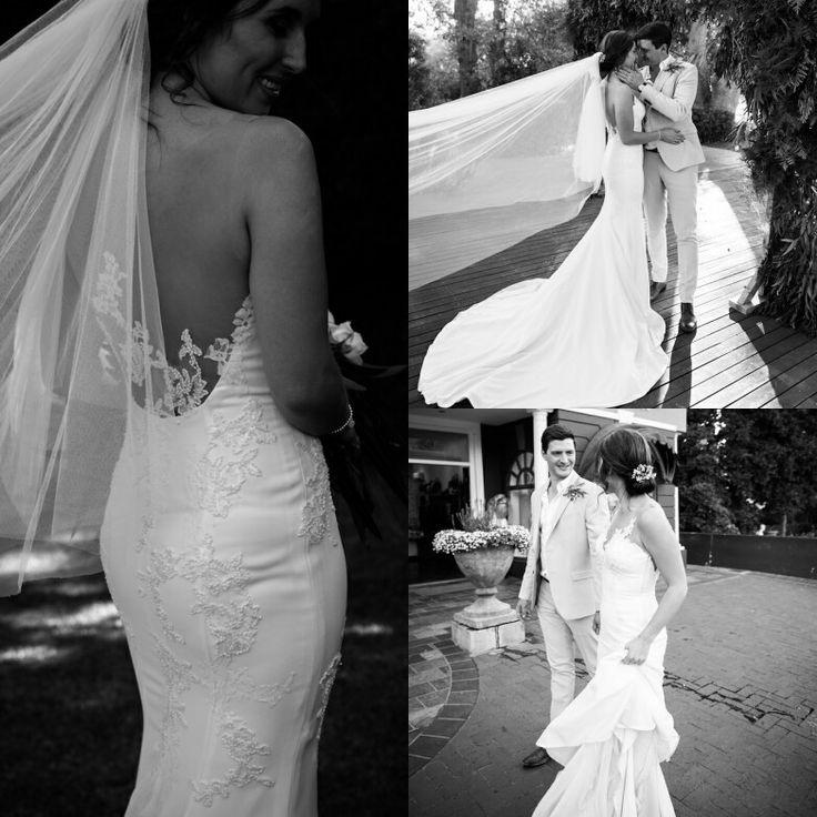 "De La Vida bride, Stephanie Venter. Ever so timeless in PLISA by Pronovias.  Photographer: Alexander Smith.  ""I would never be happy with anyone else, so long as you walked the Earth"" - Downton Abbey  #realbride #DLVbride #delavida #pronovias"