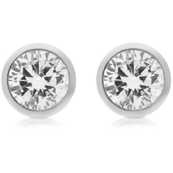 Michael Kors Designer Earrings Brilliance Metal and Crystal Stud... ($97) ❤ liked on Polyvore featuring jewelry, earrings, silver, michael kors earrings, michael kors, sparkle jewelry, metal jewelry and sparkly earrings
