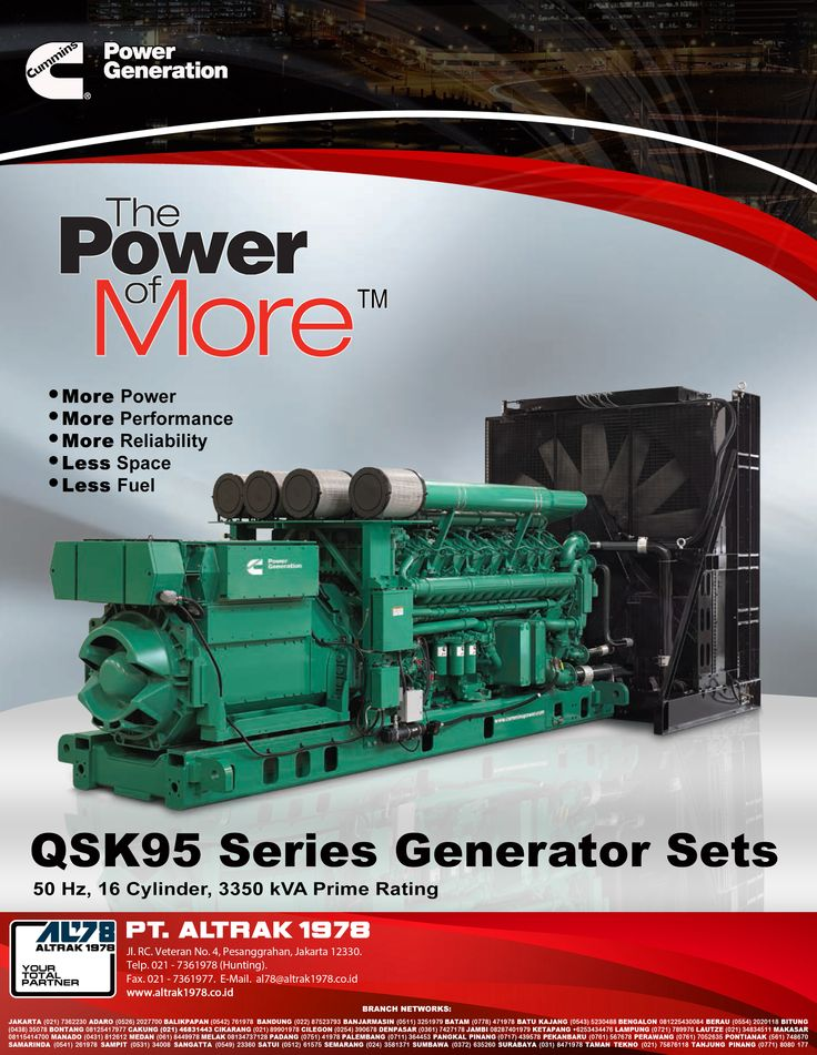 Indonesian Industry Magazine Feb'16  Cummins Power Generation QSK 95