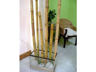 caas de bamb con tubos de cartn unir los tubos entre s con cinta de