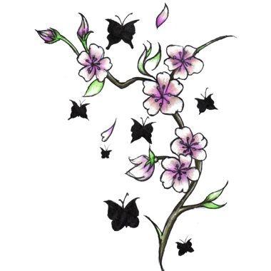 17 meilleures id es propos de tatouages de cerisier sur pinterest tatouages de symbole - Cerisier en fleur dessin ...