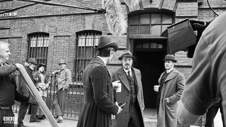 Ripper Street behind the scenes, series 3. Jerome Flynn Matthew Macfadyen David Dawson