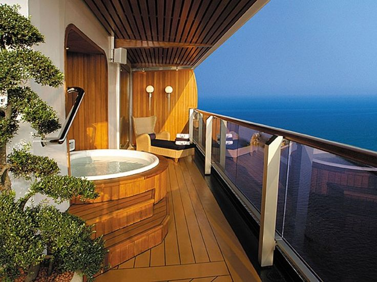 79 best images about cruise line staterooms on pinterest for Balcony hot tub