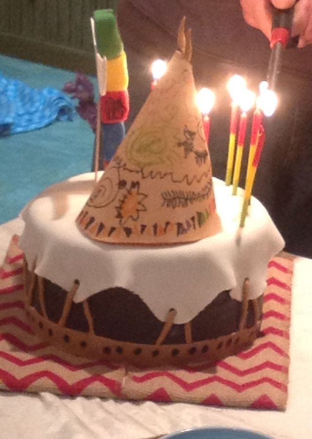 Not by me but DiL...a birthday teepee cake Cakes by Me ...