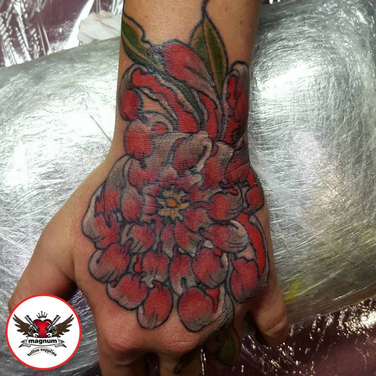 Hand piece done by Zack Chiswell using #magnumtattoosupplies
