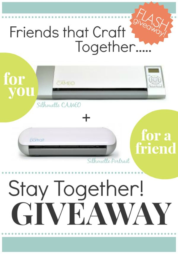 Craftaholics Anonymous® | FLASH Silhouette CAMEO + Portrait Giveaway!