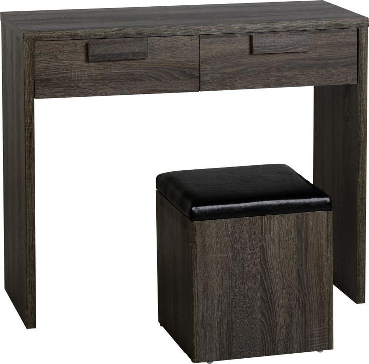 Cambourne 2 Drawer Dressing Table Set in Dark Sonoma Oak Effect #DressingTableset #DressingTables #dressing