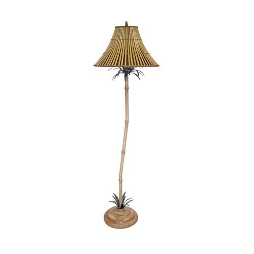 Tropical Natural Floor Lamp with Split Bamboo Shade