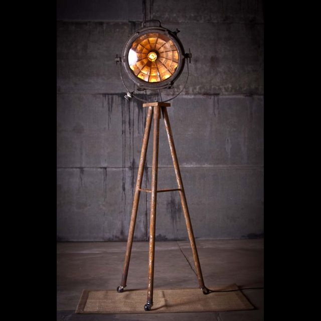 Mike Wolfe | Lighting and Lights | Rustorations | Antique Archaeology . . . Forrest - Tripod Search Light Lamp