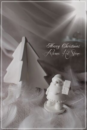 アロマハイストーン♡クリスマスにサンタクロースのモチーフ♡&クリスマスツリーのモチーフ♡