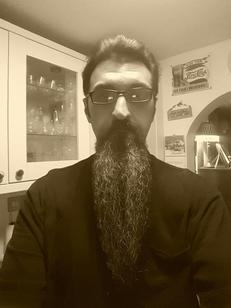 Long goatee beard