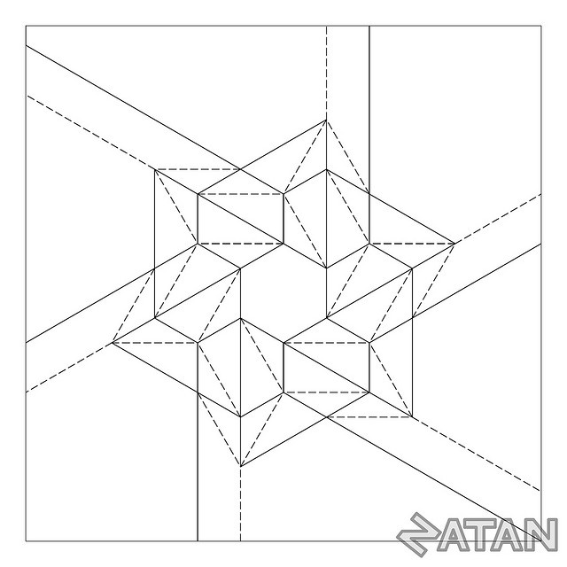 Six Points Star Tessellation by Origami Natan, via Flickr