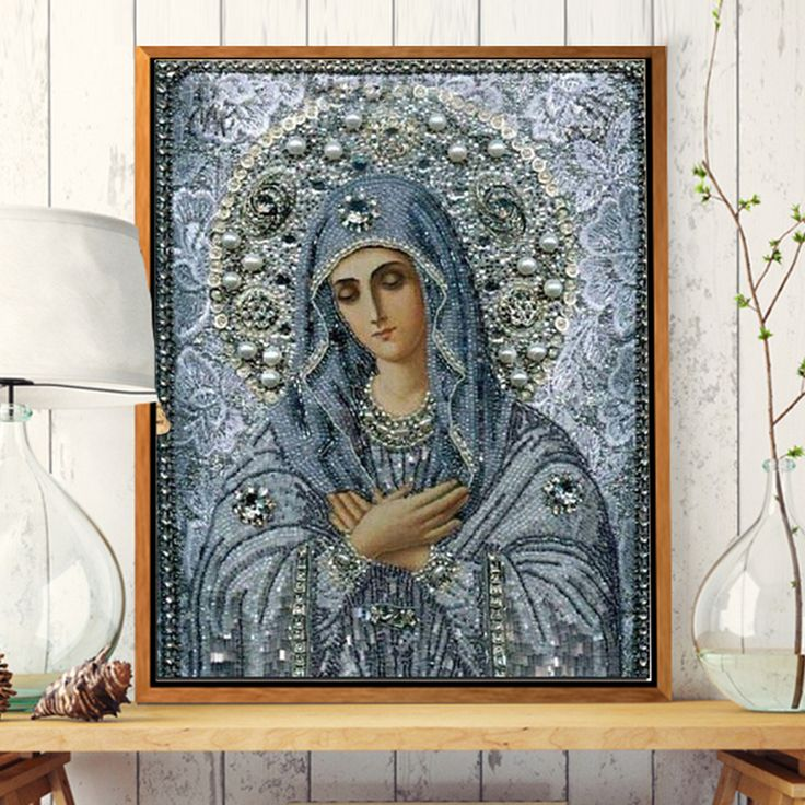 DIY 5D Diamond Painting Cross Stitch Square Stone Needlework Diy Diamond Embroidery Religious People For Gift Home Decoration #Affiliate