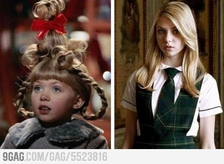 Cindy Lou from THe Grinch now. Am I the only one who feels like this movie came out yesterday?!
