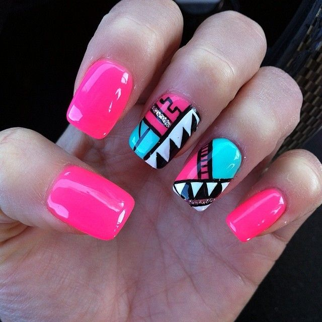 ♥ Aztec / Tribal Nails ♥ Love, love, love!!!